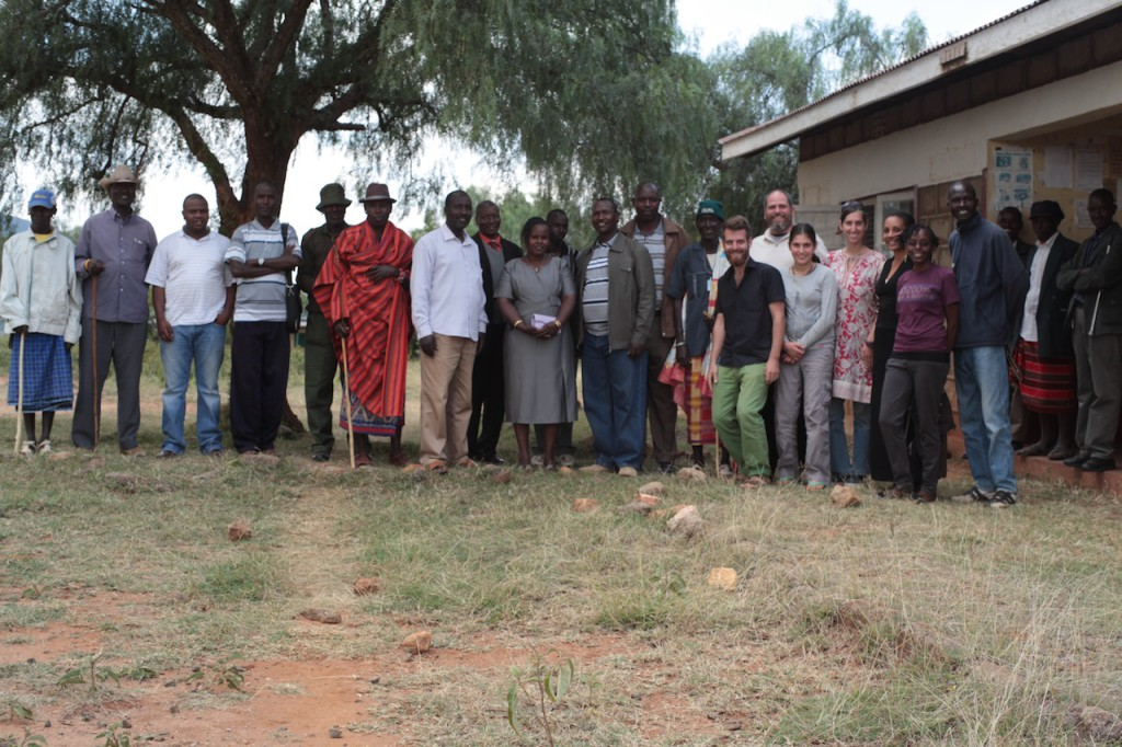 After community meeting presenting Sadhana Forest Kenya's project