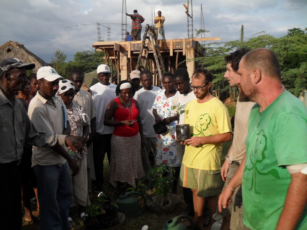 Aviram and Jamey tree planting