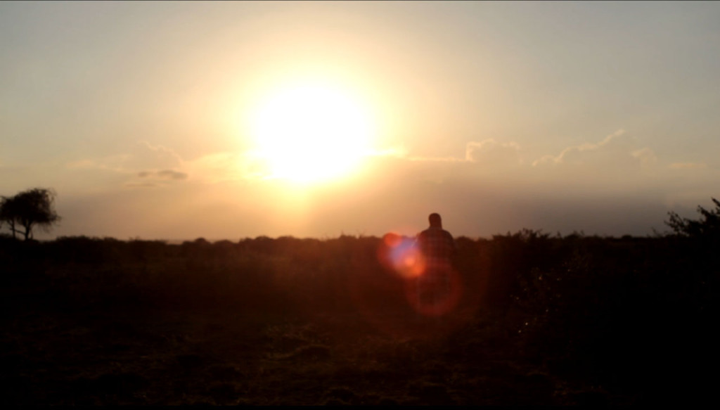 Aviram on Sadhana Forest Kenya land - Sunset
