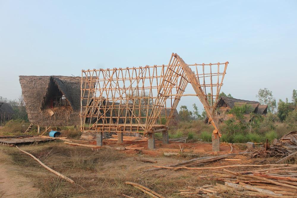 Constructing long term volunteer huts