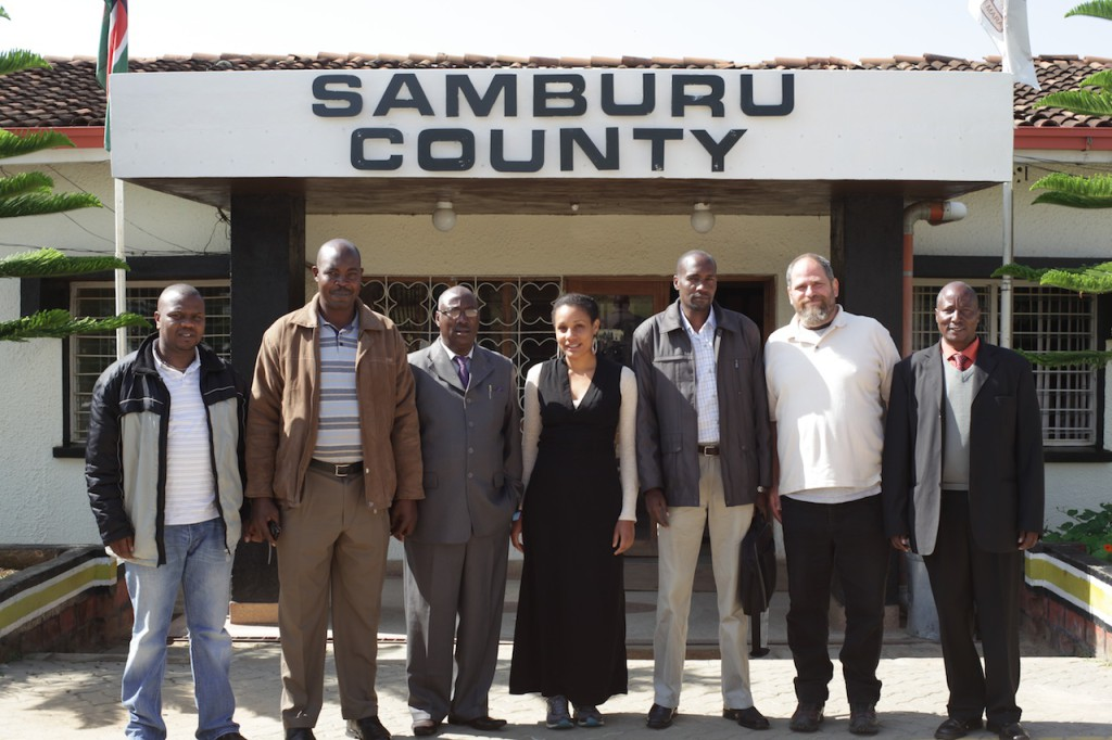 Meeting with Samburu County government officials