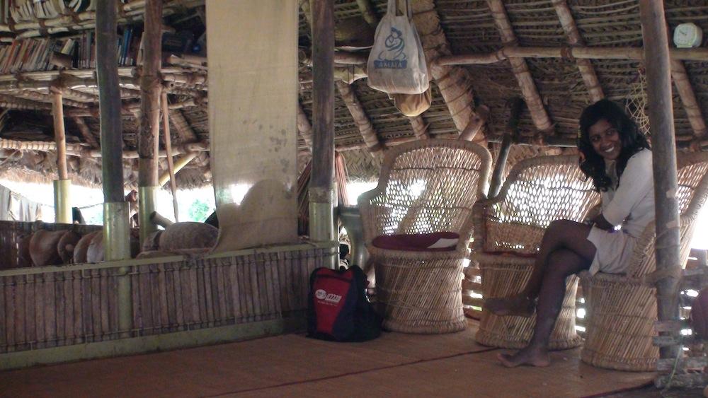 Niki in main hut