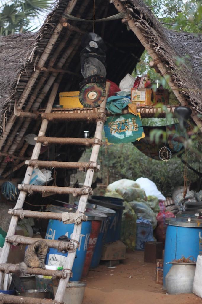 Recycling hut