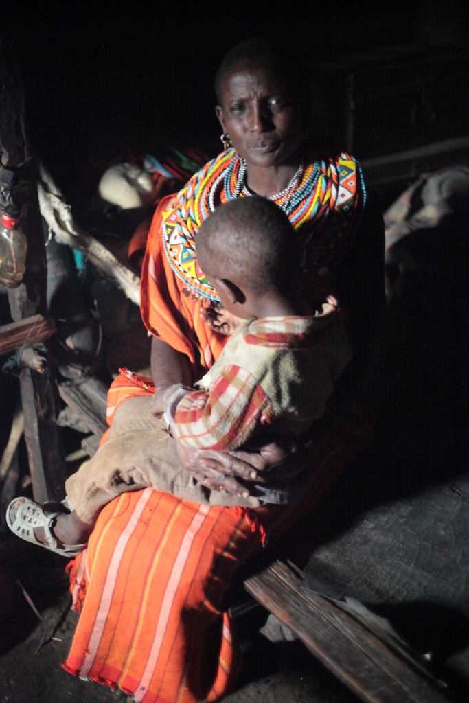Samburu women with child