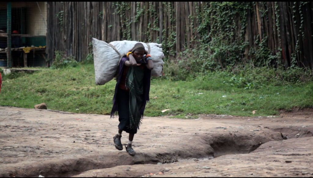 Women carrying load in Maralal