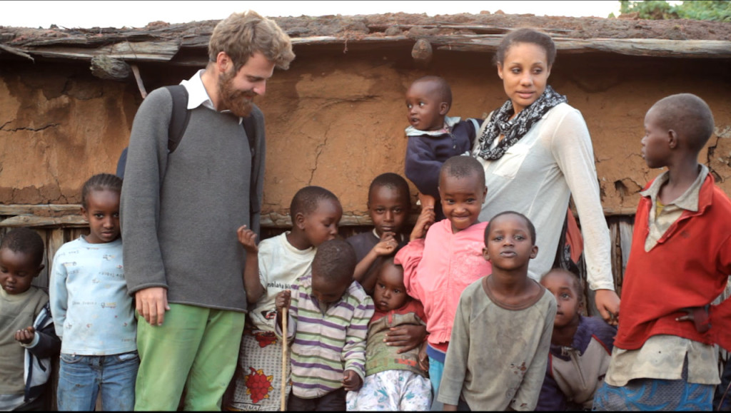 Yoav and Brooke with Samburu kids (2)