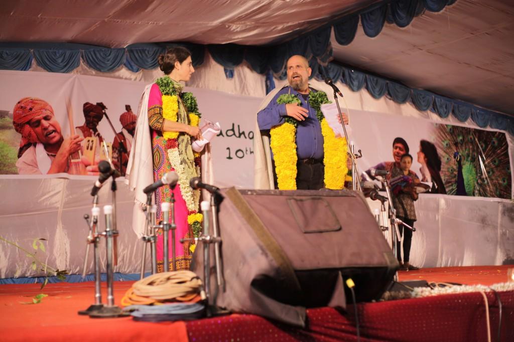Aviram and Yorit on stage