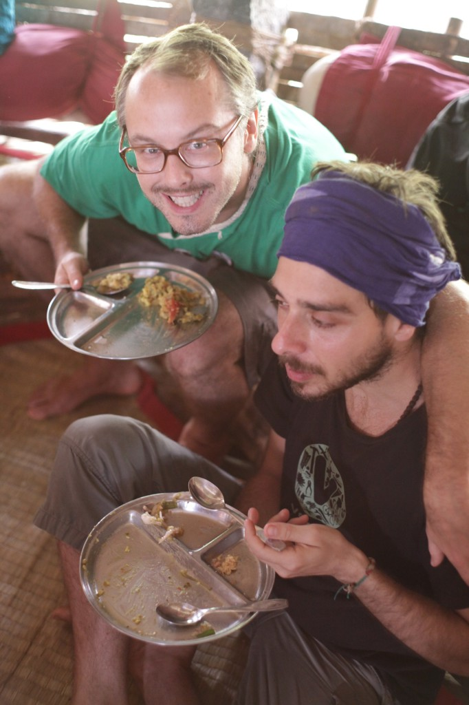 Jamey and David having lunch