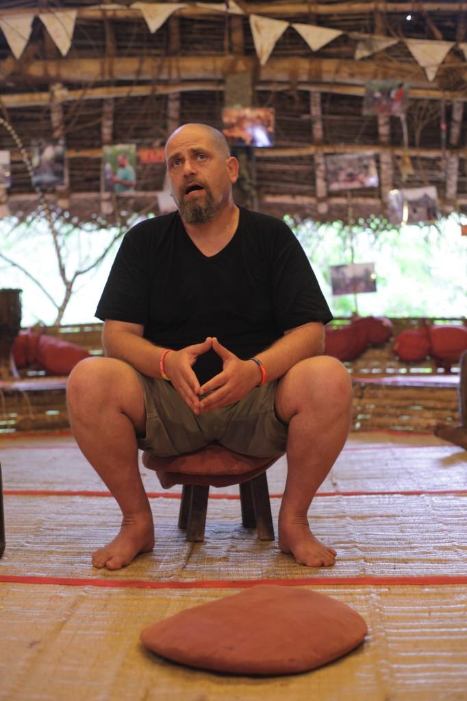 QA with Aviram in the main hut 2