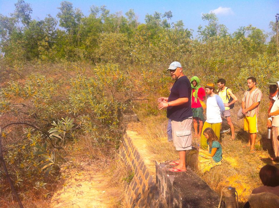 A checkdam in Sadhana Forest
