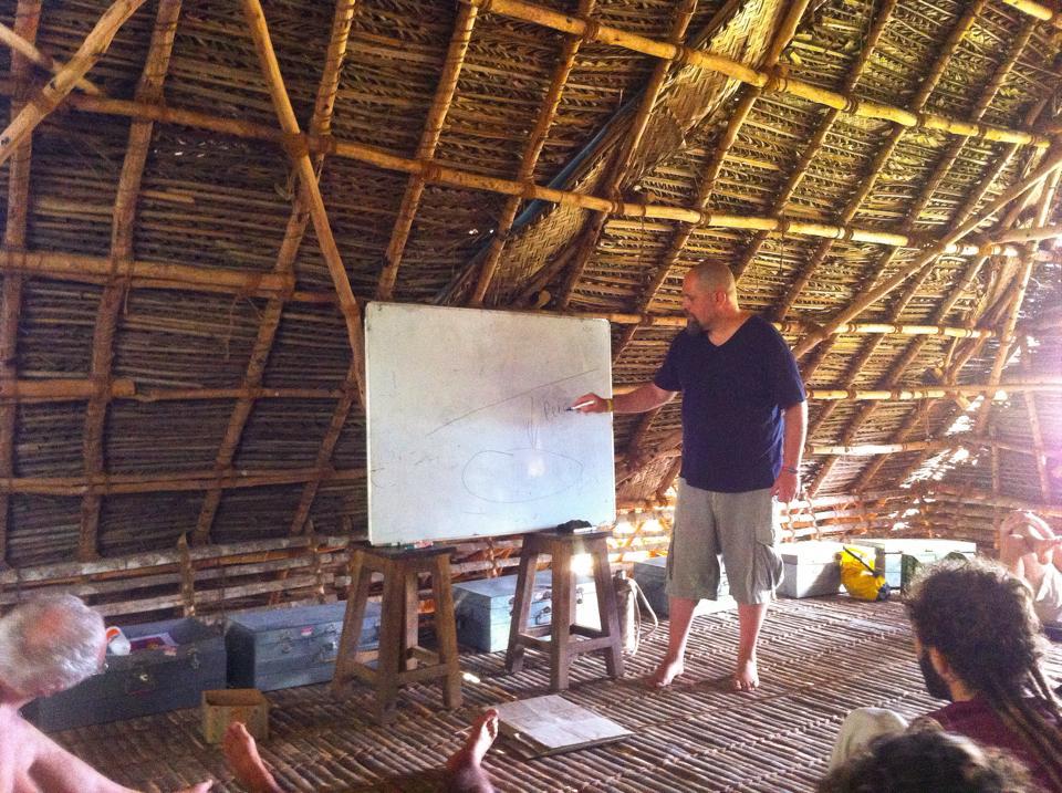 Aviram explaining water conservation